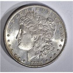 1881-S MORGAN DOLLAR CH BU GREAT COLOR