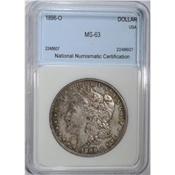1896-O MORGAN DOLLAR NNC