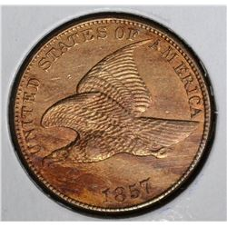 1857 FLYING EAGLE CENT CH.BU