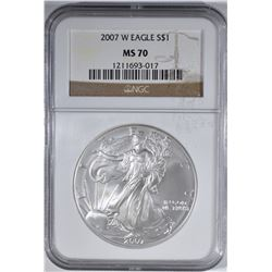 2007 W AMERICAN SILVER EAGLE NGC