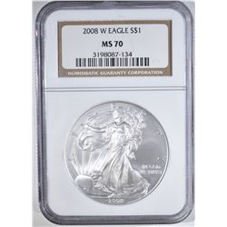 2008 W AMERICAN SILVER EAGLE NGC
