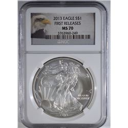 2013 AMERICAN SILVER EAGLE NGC MS70