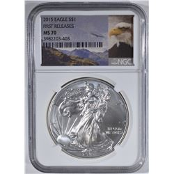 2015 AMERICAN SILVER EAGLE NGC MS70