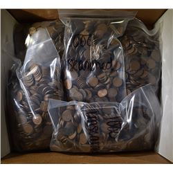 5000-MIXED DATE AVE CIRC LINCOLN WHEAT CENTS