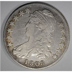 1808 CAPPED BUST HALF DOLLAR  VF-XF