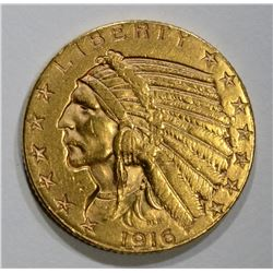 1916-S $5 GOLD INDIAN HEAD  BU