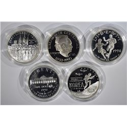 5 PROOF SILVER DOLLARS