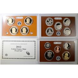 2012 U.S. PROOF SET IN ORIG BOX/COA