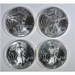 2-2013 & 2-2015 GEM BU AMERICAN SILVER EAGLES