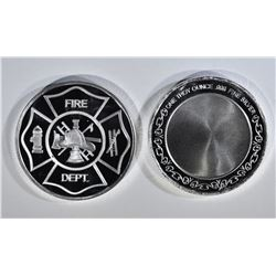 2-ONE OUNCE .999 SILVER FIRE DEPT ROUNDS