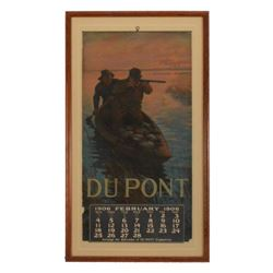 1906 DuPont Smokeless Powder Advertising Calendar