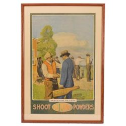 DuPont Powders Trap Shooting Advertising Poster