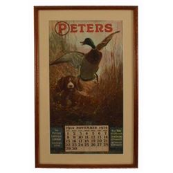 1914 Peters Cartridge Co. Advertising Calendar