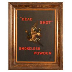"""Dead Shot"" Smokeless Powder Tin Sign"
