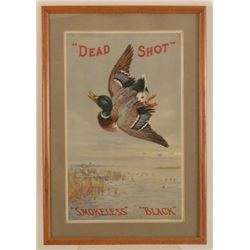 """Dead Shot"" Smokeless Black Powder Poster"