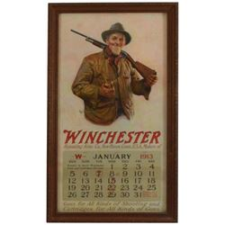 1913 Winchester Repeating Arms Co Framed Calendar