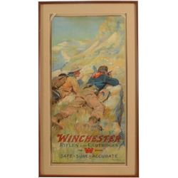 1911 Winchester Arms Co Rifles & Cartridges Poster
