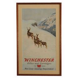 1912 Winchester Arms Co Rifles & Cartridges Poster