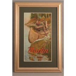 1907 Marlin Arms Co. Advertising Poster