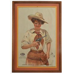Colt Cowgirl Revolvers Advertising Poster