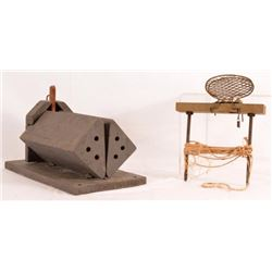 2 Antique Traps Shooting Live Pigeon Releases