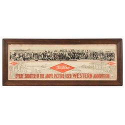 1912 Western Ammunition Co.  Advertising Poster