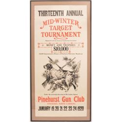 1920 Pinehurst Gun Club Trap Shooting Poster