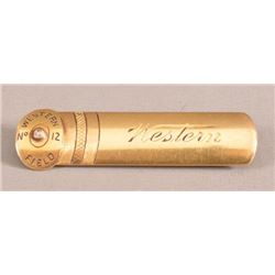 Western Ammo 14kt Gold & Diamond Shotshell Pin