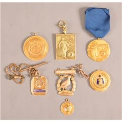 Collection of 14kt Gold Trap Shooting Medals