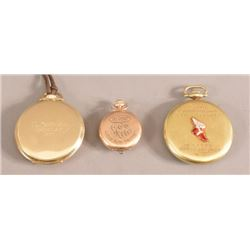 3 Trap Skeet & Shooting Trophy Pocket Watches