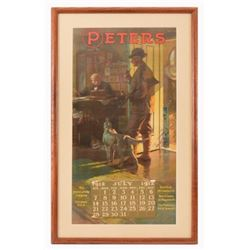 1912 Peters Cartridge Co.  Advertising Calendar