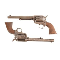 Pair Of Colt Model 1873 SAA US Revolvers