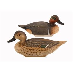 Charlie Joiner Pair of Greenwing Teal Decoys