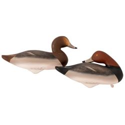 Pair of Canvasback Duck Decoys by Charlie Joiner