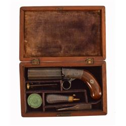 Blunt & Syms Cased Pepper Box Revolver