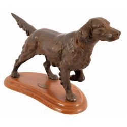 Quaker State Oil Advertising Cast Iron Dog Statue