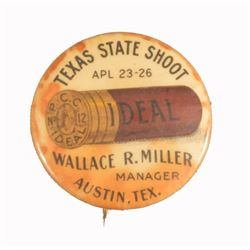 Austin Texas Ideal Shotgun Shells Pinback Button