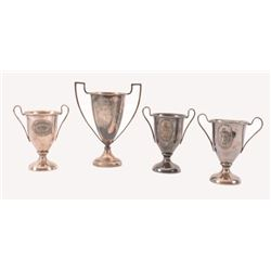 4 Du Pont Powders Advertising  Shooting Trophies