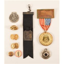 1902 Trap Shooting Badges, Pins, & Medals