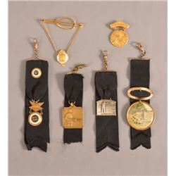 Trap Shooting Watch Fobs, Medals, & Pins