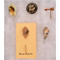LC Smith Hunter Arms Savage Advertising Pins