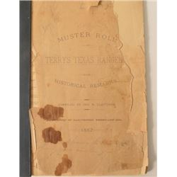 1882 Terry's Texas Rangers Muster Roll Galveston