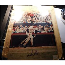 "Wade Boggs Autographed 8"" x 11"" Color Photograph with Original S.A.S.E."