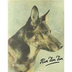 † Rin Tin Tin (1922 - 1931) A large official Warner Bros. publicity colour card oversized publicity