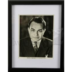 † Edward G. Robinson (1940's) Sepia 'First National & Vitaphone Pictures' publicity photograph of Ed