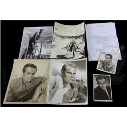 † Charlton Heston - An official period circa 1950's, studio publicity photograph hand signed by the