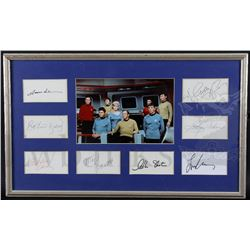 † Star Trek (1966) Central eight main cast autographs from the original television series, William S