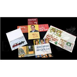 † Bob Hope (1960's) A group of four different Christmas cards exclusively made for Bob Hope and sent