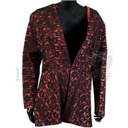 † The Dick Emery Show (1963 -1981) A floral patterned lace covered red satin jacket with interior BB