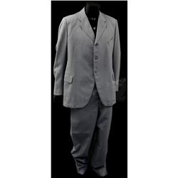 † The Benny Hill Show (1969 -1989) A two piece grey suit made for Benny Hill circa 1970's on the sho